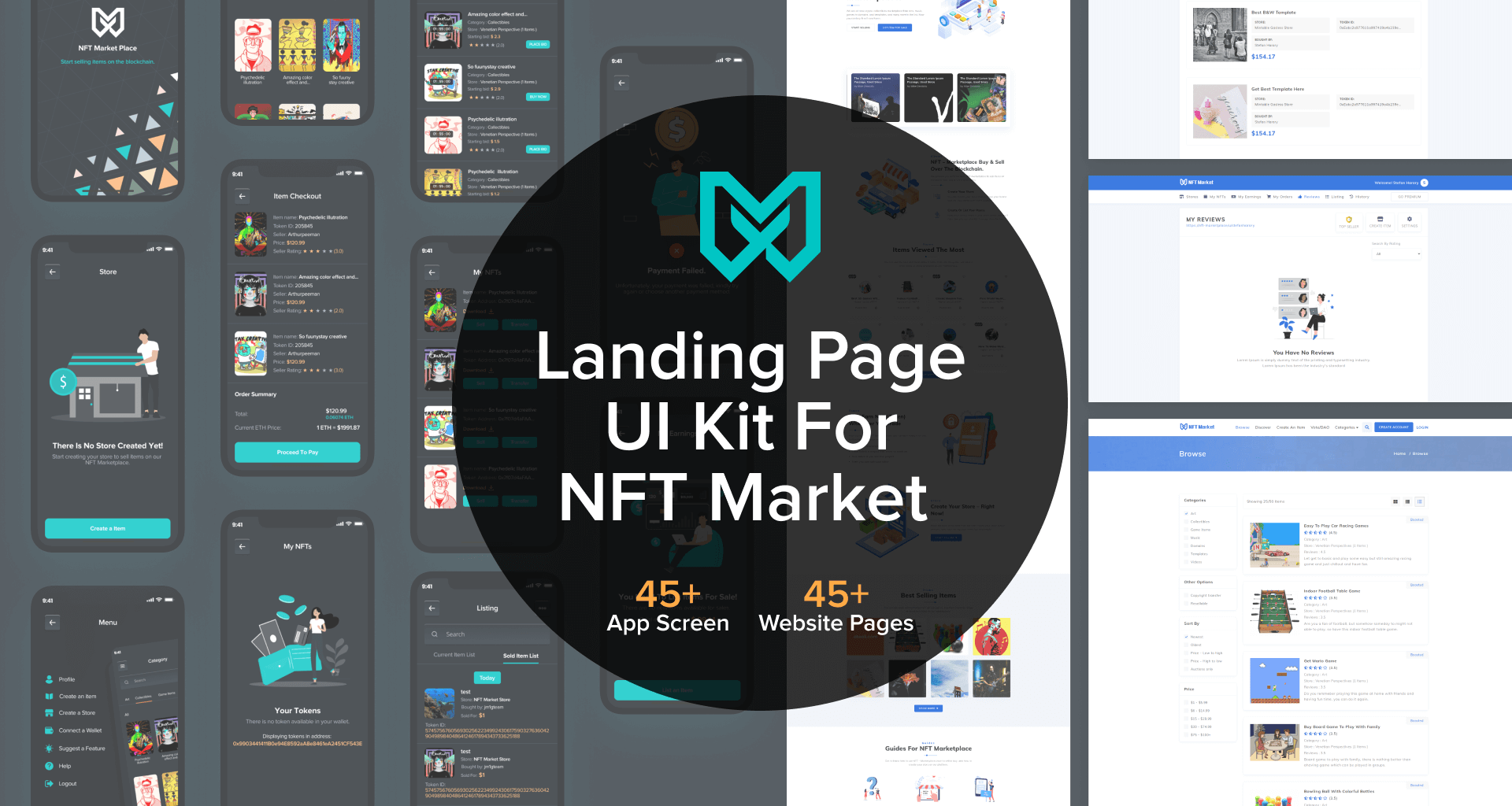 NFT Marketplace Template Our Screen Images