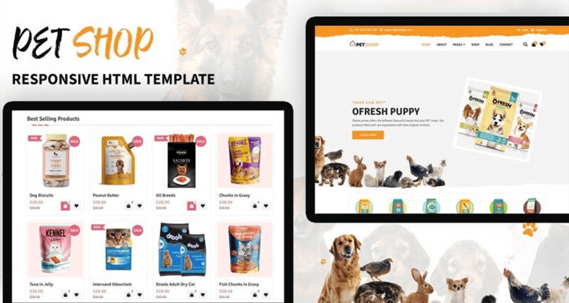 Petshop Web Template Our Screen Images