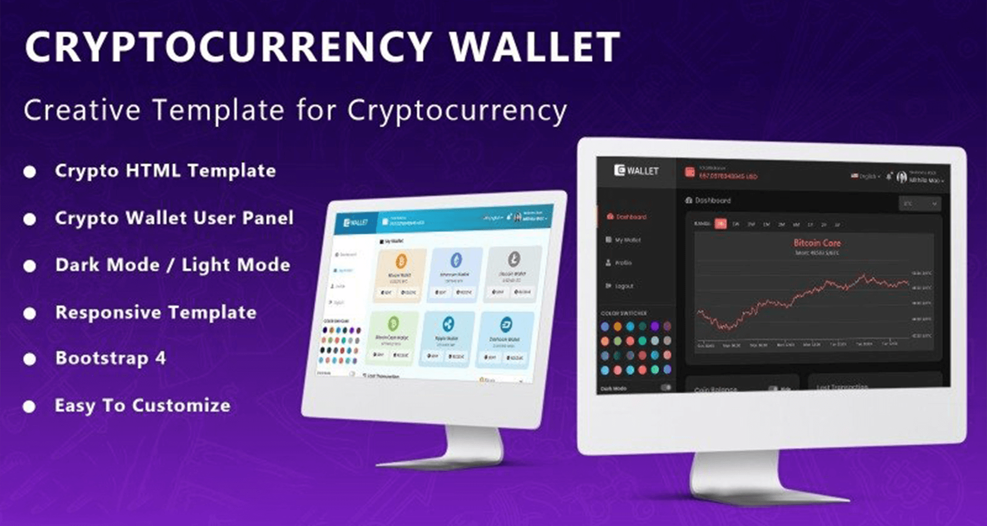 Web Template Crypto Wallet Our Screen Images