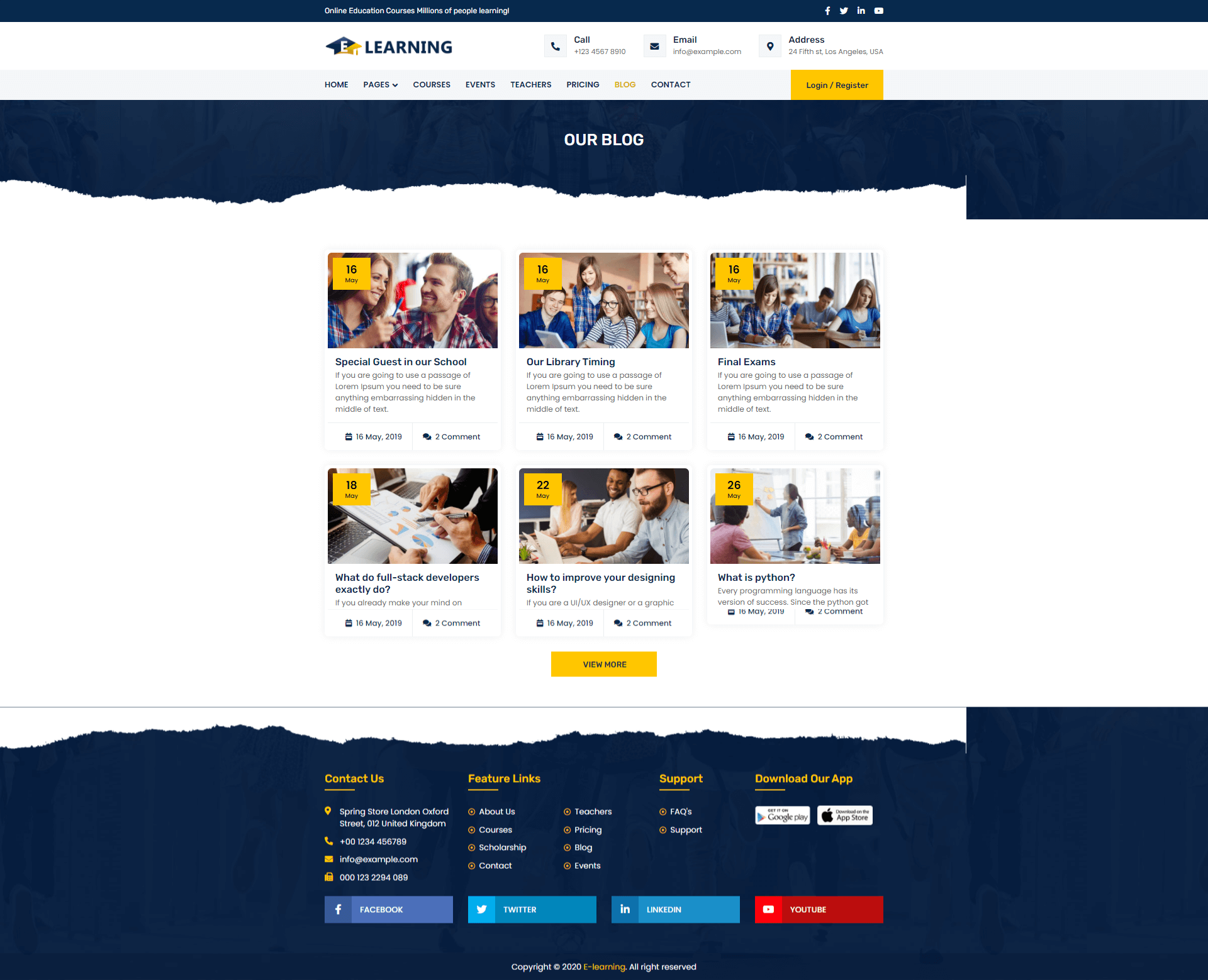 E-learning Template Screenshot Images Five