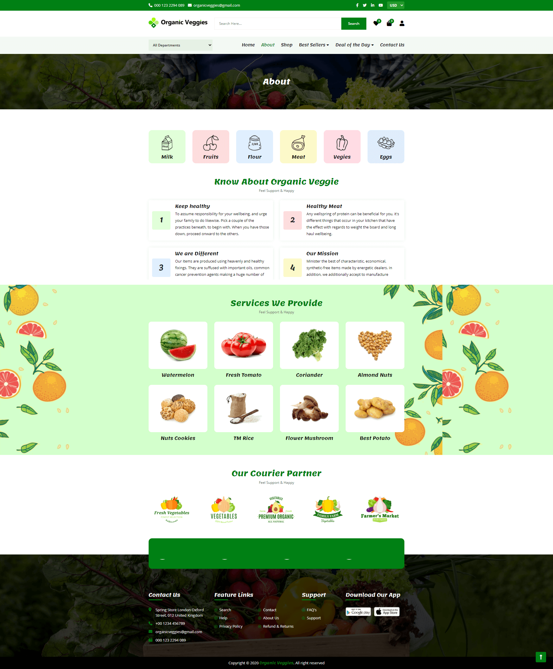 Grocery Store Web Screenshot first Image