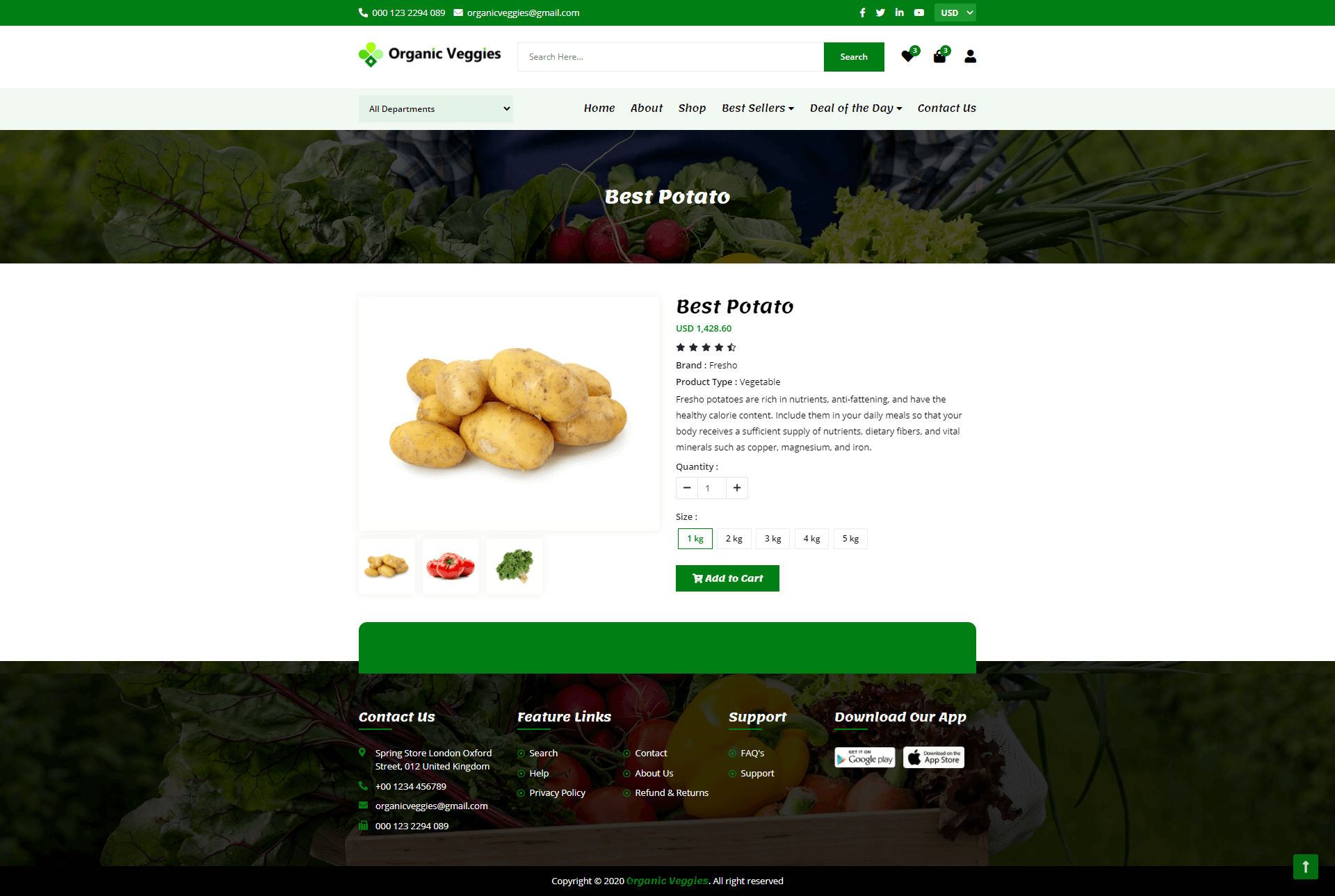 Grocery Store Web Screenshot Second Image