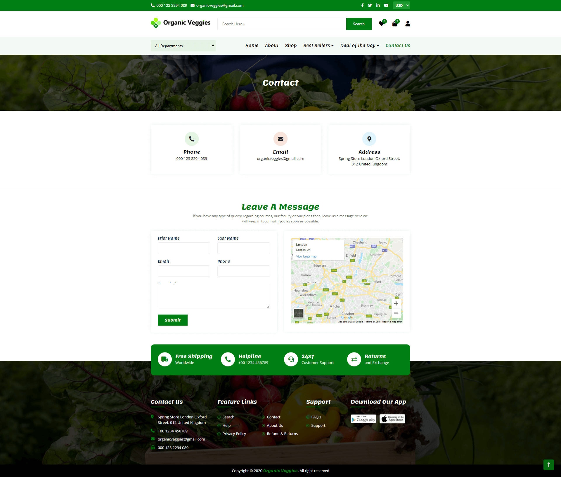 Grocery Store Web Screenshot Forth Image