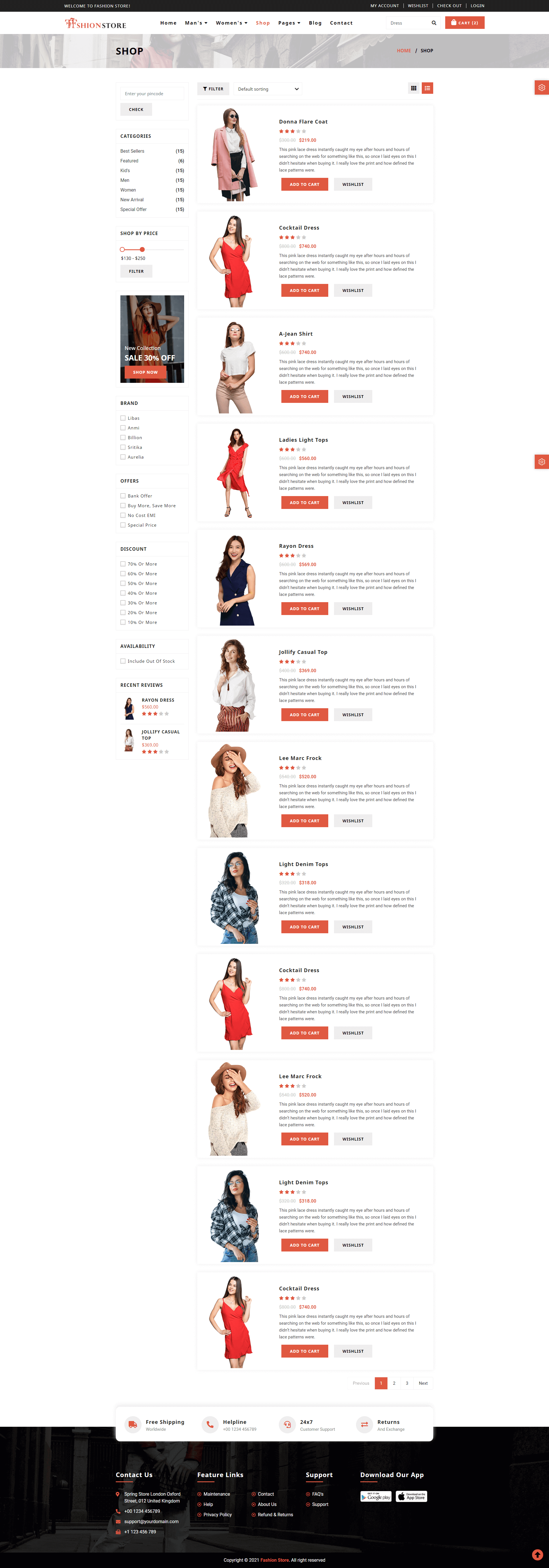 Fashion Store Screenshot Images Two