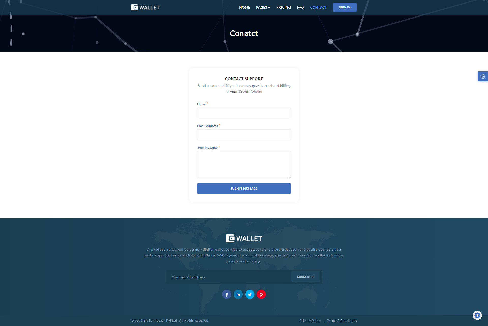 Web Template Crypto Wallet Screenshot Images Two