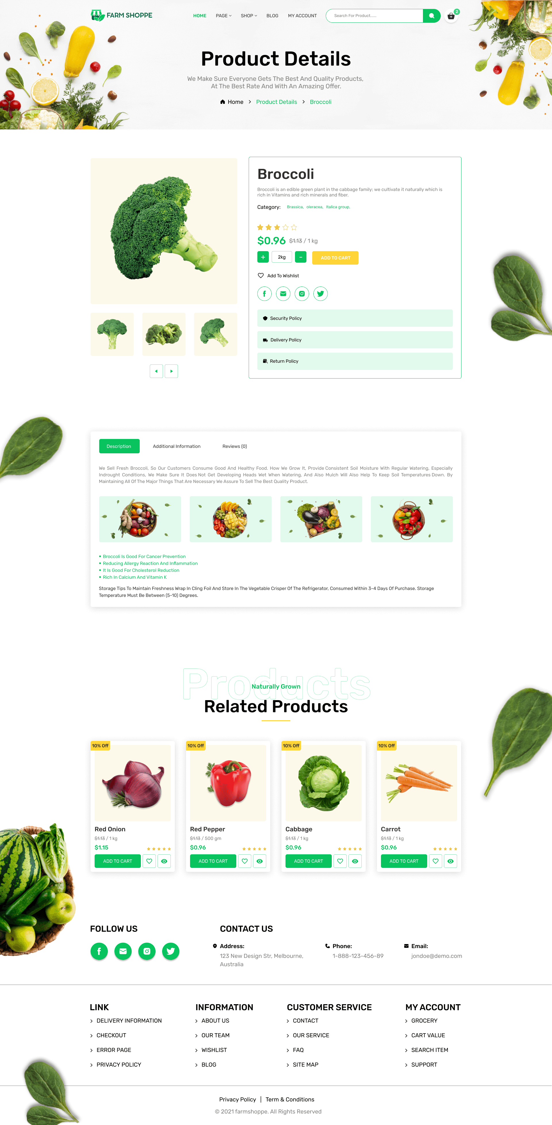 Grocerystore UI Screenshot Images Two
