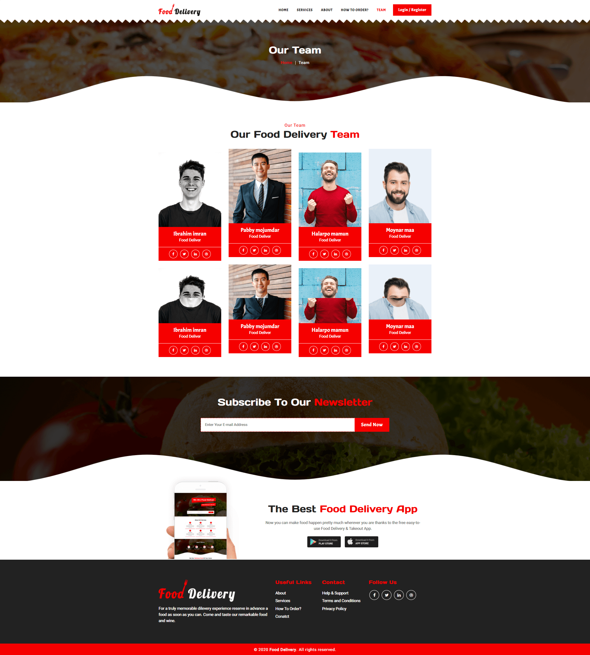 Food Delivery Template Screenshot Images Two