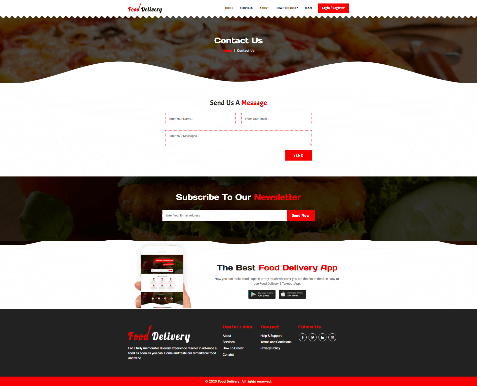 Food Delivery Template Screenshot Images Four