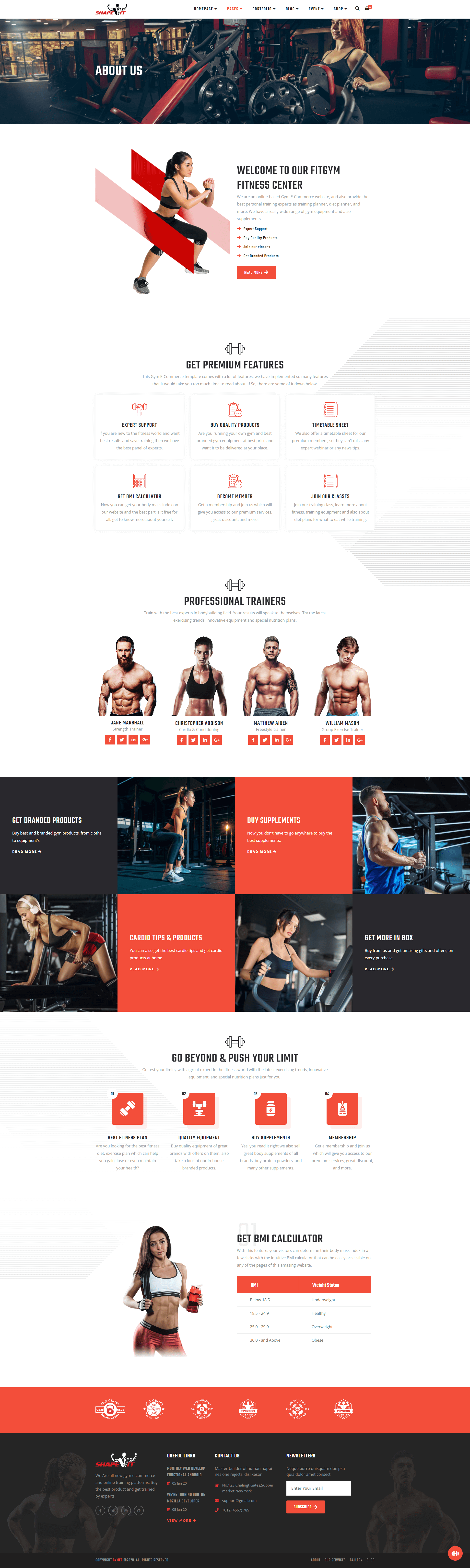 Gym Template Screenshot Images Two