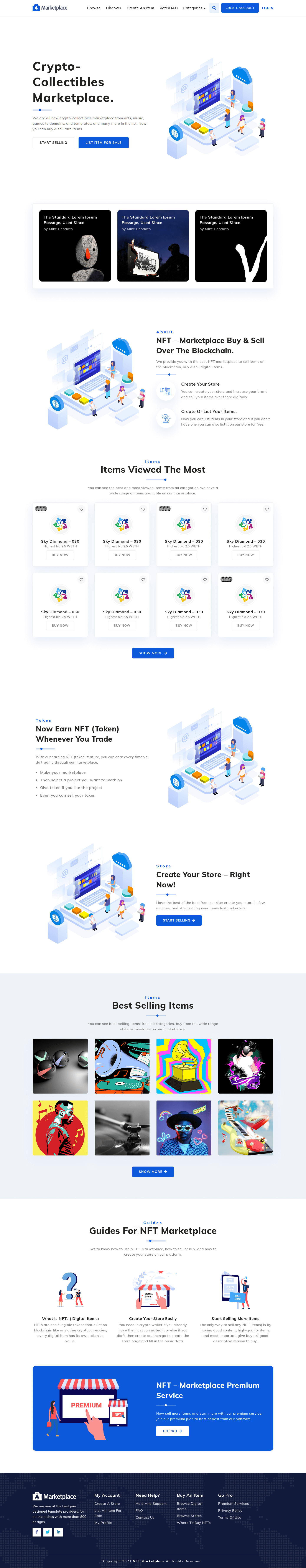 NFT Marketplace Template Screenshot Images One