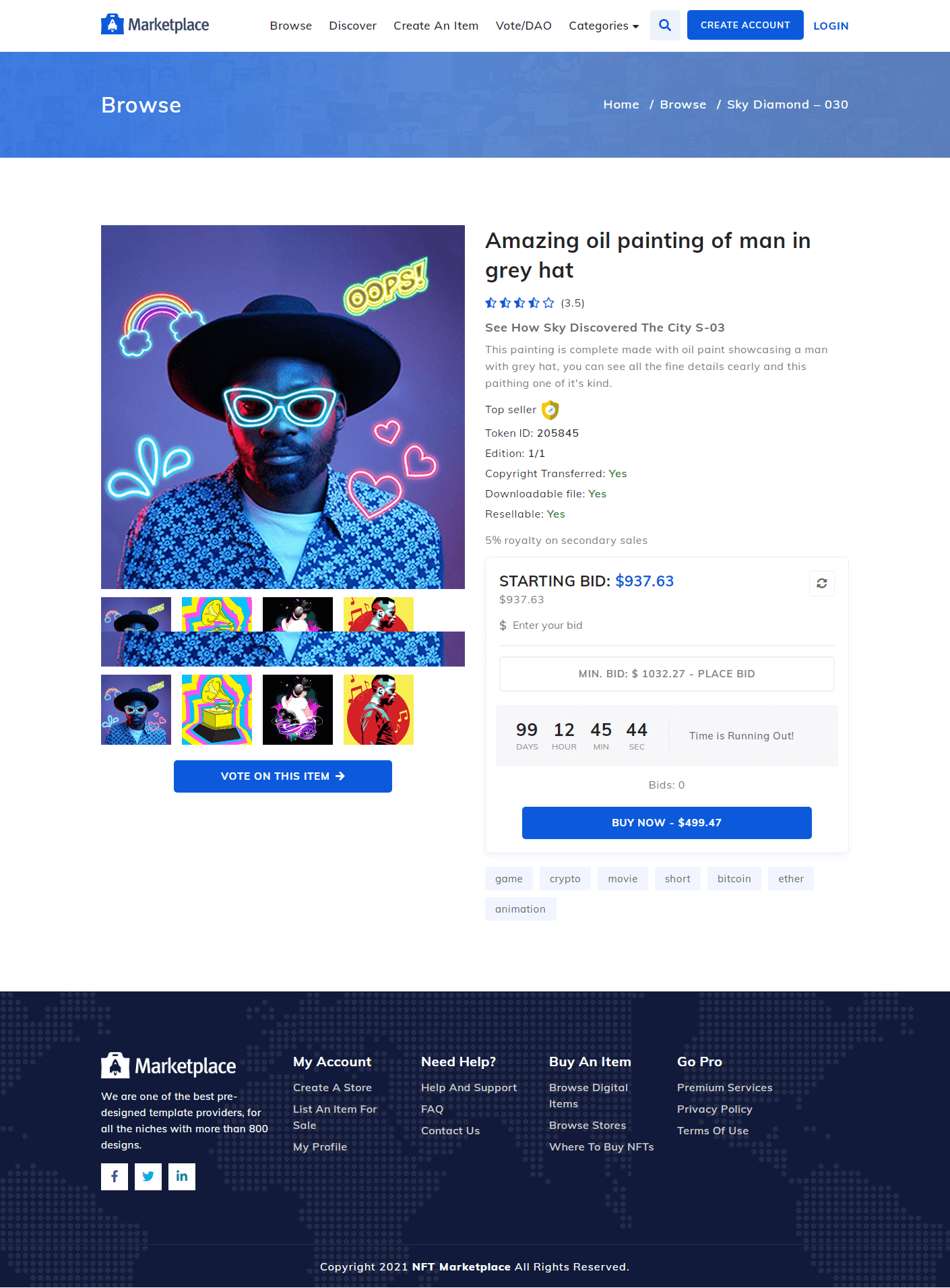 NFT Marketplace Template Screenshot Images Two